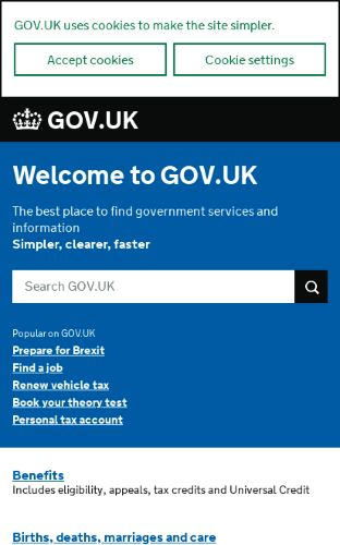 Gov UK preview