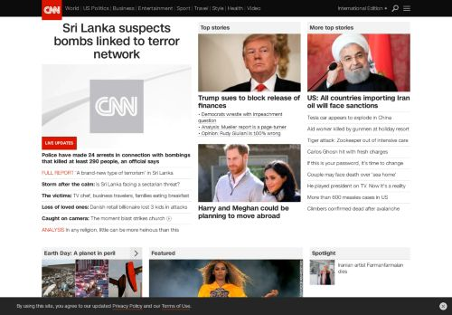 "Latest screenshot of the ""CNN Desktop"""