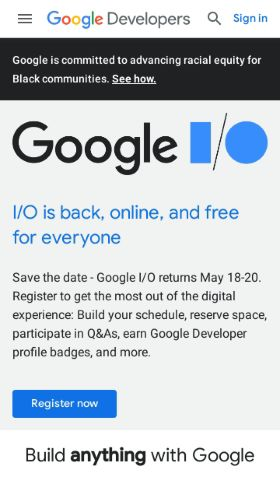 Google Developers preview