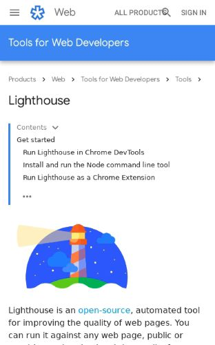 Lighthouse preview